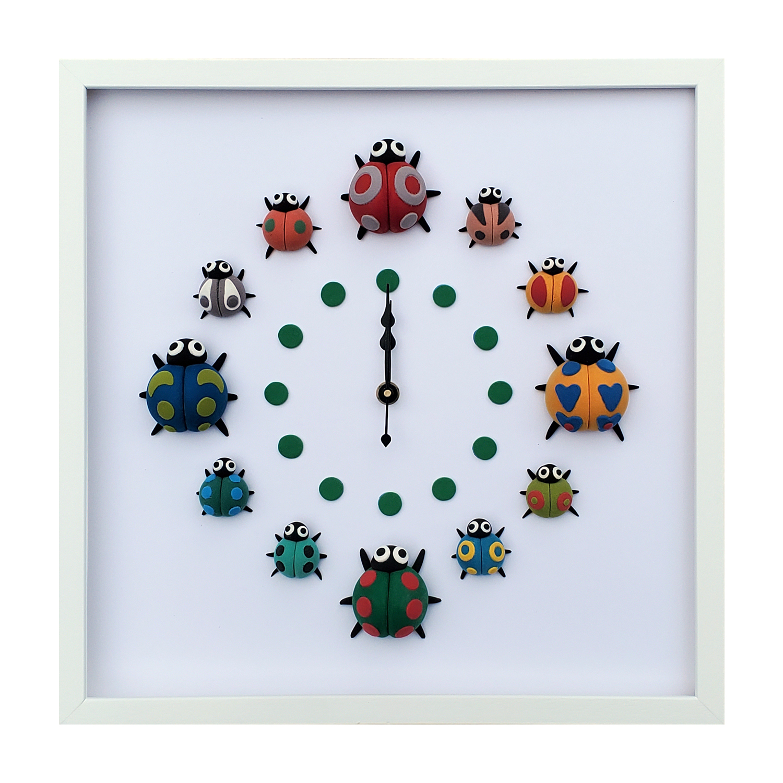 クレイアート 掛け時計
